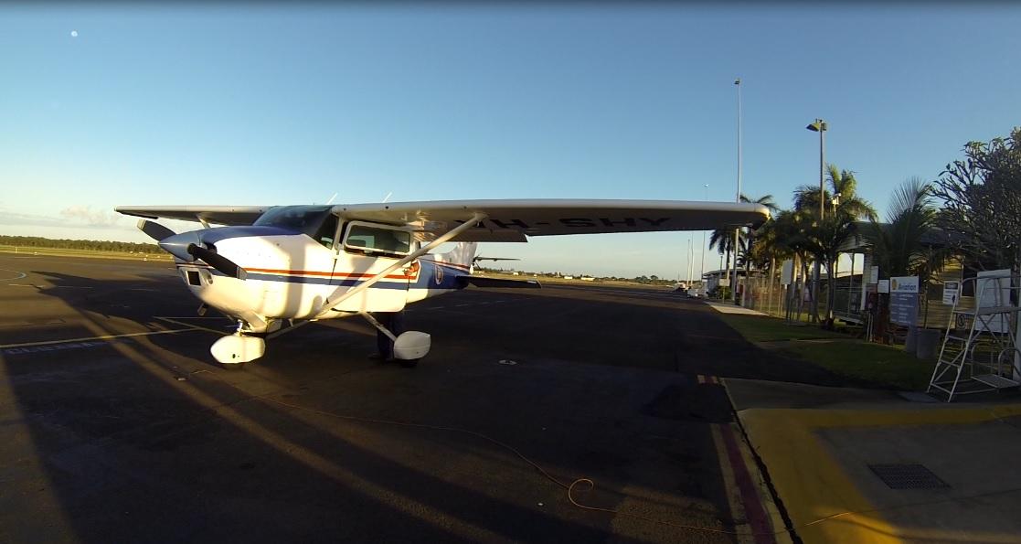 Re-fueling Bob's C-182 at Bundaberg