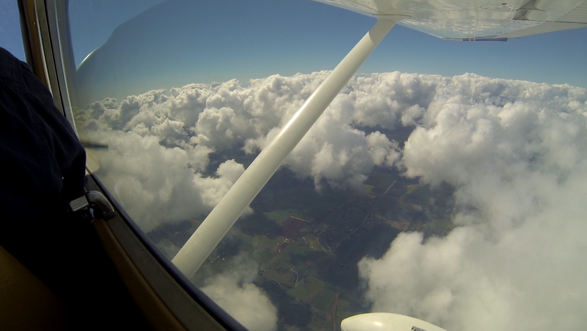 C-182 at 8,500 feet on return trip