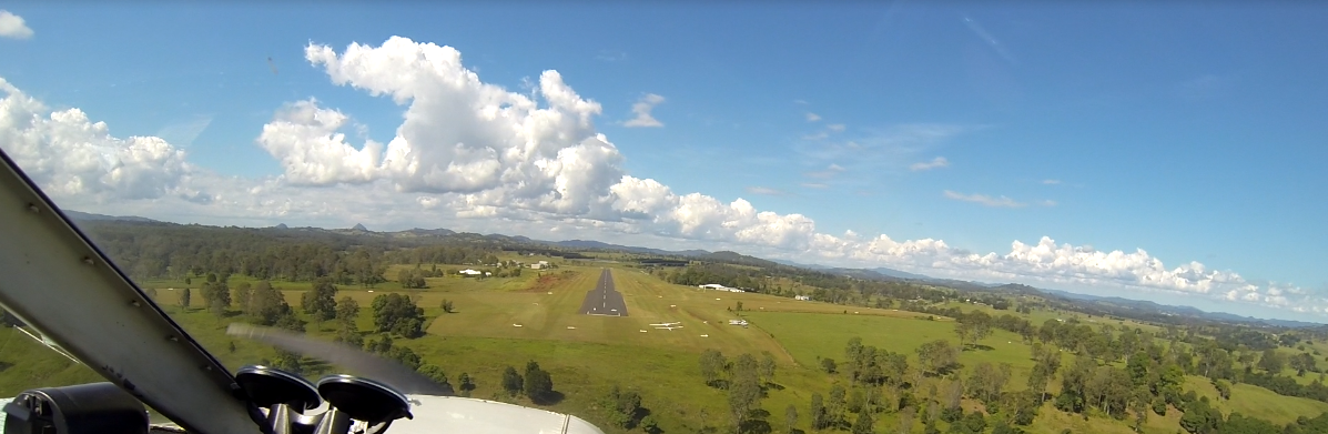 Shane Kerrigan landing at Gympie in his PA-28 April 25th 2013